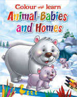 Colour & Learn Animals Babies and Homes