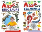 2 in 1 Magic Books Dinosaurs & Sea Animals