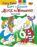 Fairy Tales Copy To Colour Alice in Wonderland
