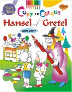 Fairy Tales Copy To Colour Hansel and Gretel