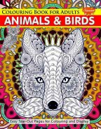 Colouring Book for Adults Animals & Birds