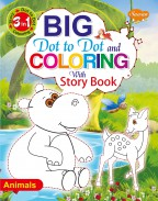 Big Dot to Dot and Colouring with Story Book—Animals