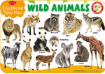 Educational Table Mats Wild Animals
