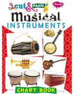 Cut & Paste Chart Book Musical Instruments