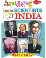 Cut & Paste Chart Book Famous Scientist of India